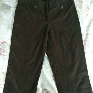 "Apt. 9 ""Maxwell"" Crop Pants, Size 8, Chocolate"
